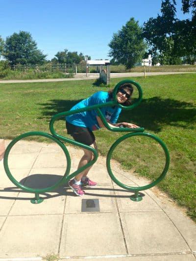 me in bike