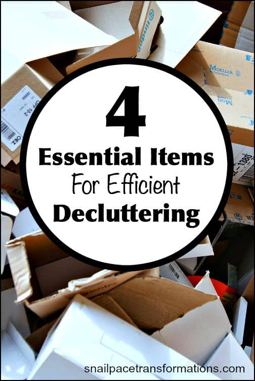 4 essential items for efficient decluttering