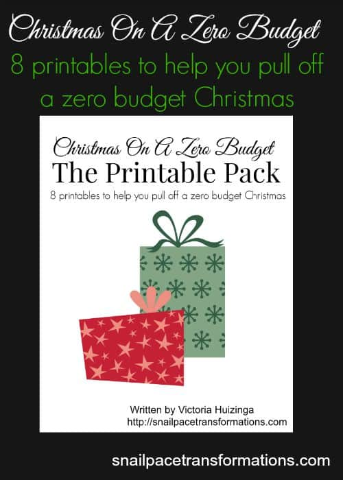 Christmas On A Zero Budget 8 printables to help you complete your Christmas gift list even when cash is tight