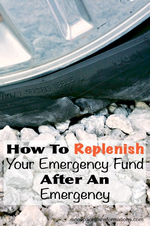 How to replenish your emergnecy fund after an emergency