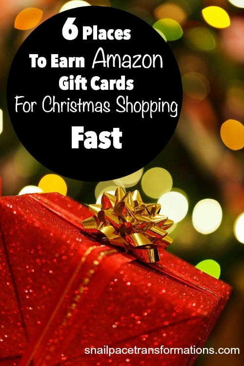 6 places to earn Amazon gift cards for Christmas shopping.