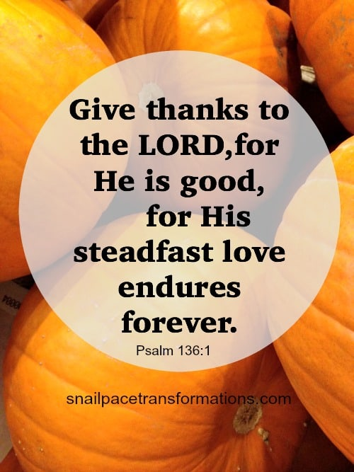 Psalm 136:1 Give Thanks!