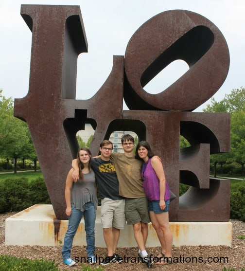 me and the kids at Indy Art