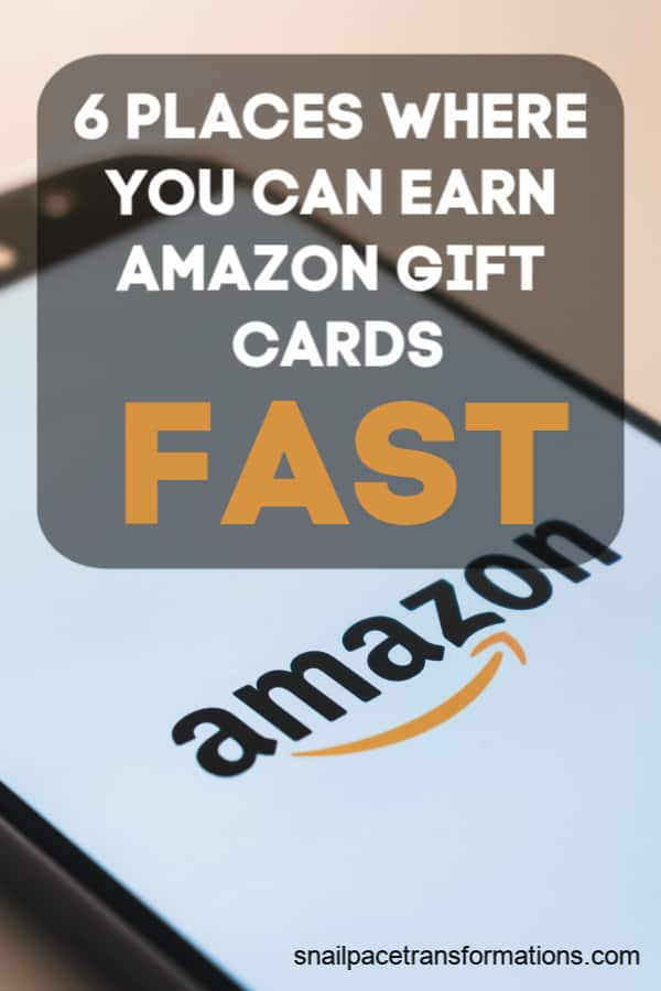 Want to earn Amazon gift cards, but tired of dealing with apps, survey companies and point programs with high cash out levels or a system where it takes FOREVER to earn points? Try these 6 places where you can earn Amazon gift cards FAST. #earnmoney #earnmoneyonline