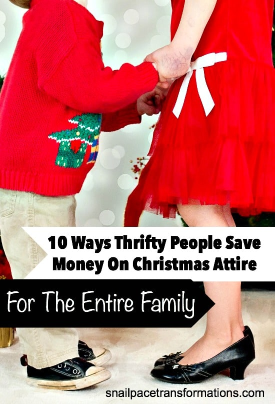 How to save money on Christmas outfits for the entire family.