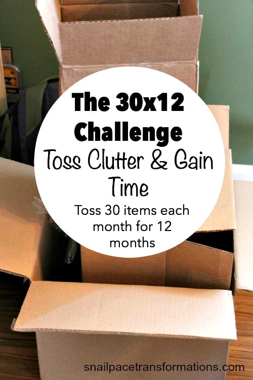 The 30x12 challenge: toss clutter and gain time.
