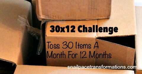 30 times 12 Challenge: Toss Clutter & Gain Time | Snail Pace Transformations