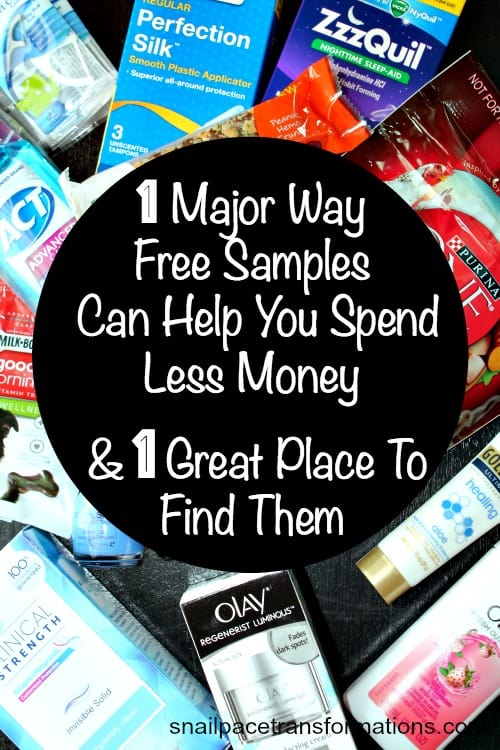 1 major way free samples can help you spend less money and 1 great place to find them!