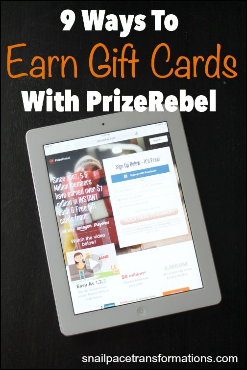 9 ways to earn gift cards with PrizeRebel!