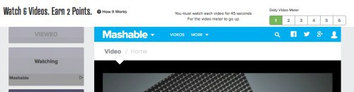 Engage Videos area in PrizeRebel.