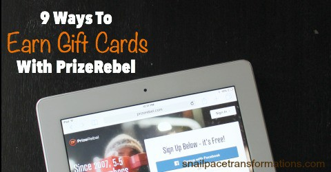 9 ways to earn gift cards with PrizeRebel.