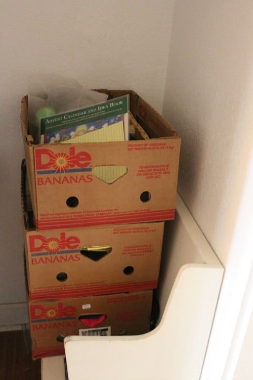 boxes full of clutter