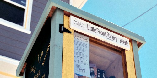 Little Free Library boxes are popping up everywhere and are a good source for free books--no library card required and no late fees.