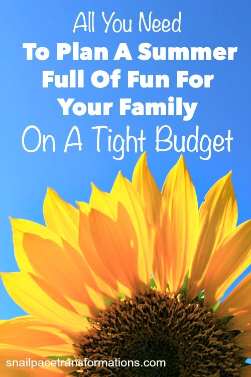 All you need to plan a summer full of fun for your family on a tight budget!