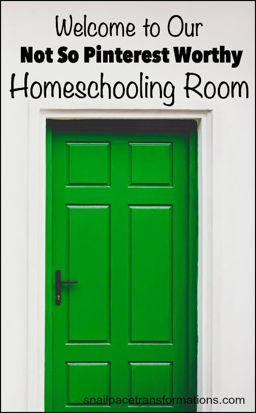 A real life homeschooling room, plus a major tip for creating your own!