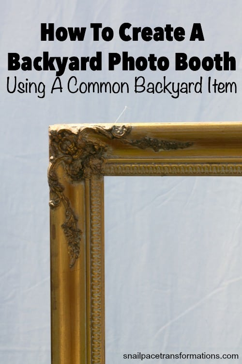How to create a backyard photo booth using a common backyard item.