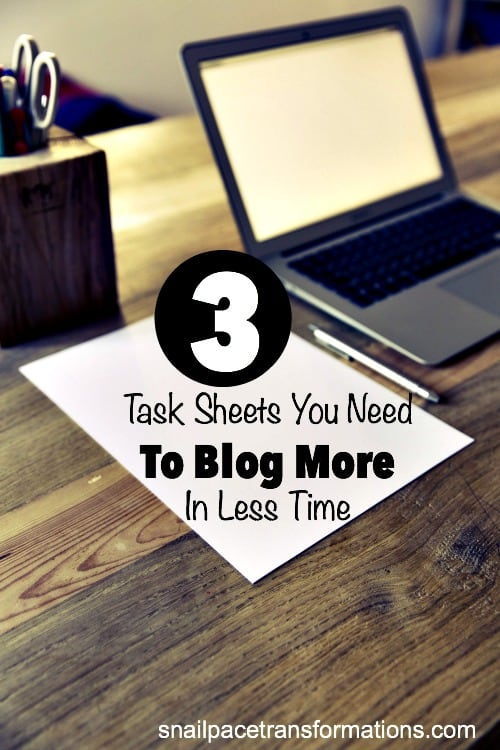 Get more blogging done in less time! You can shave hours off your work week by creating these 3 task sheets for yourself.