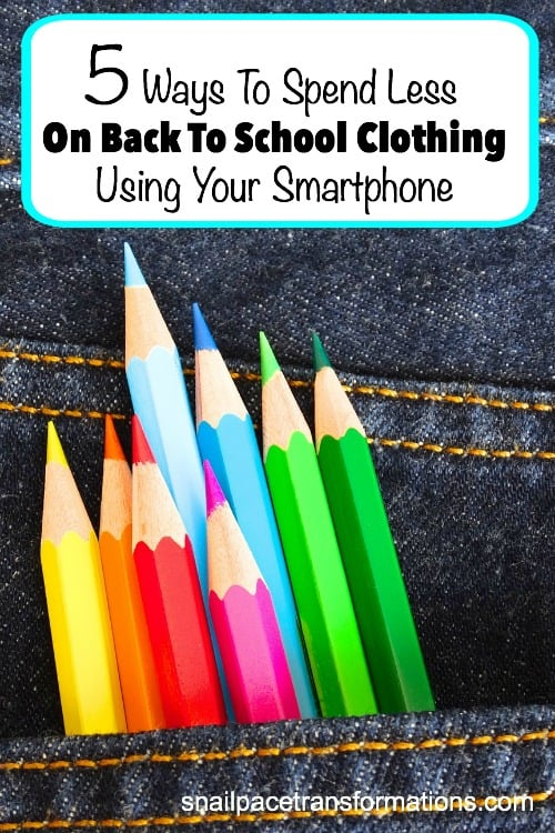 Your wallet will thank you when you use these 5 ways to save money on back to school clothing using your smartphone.