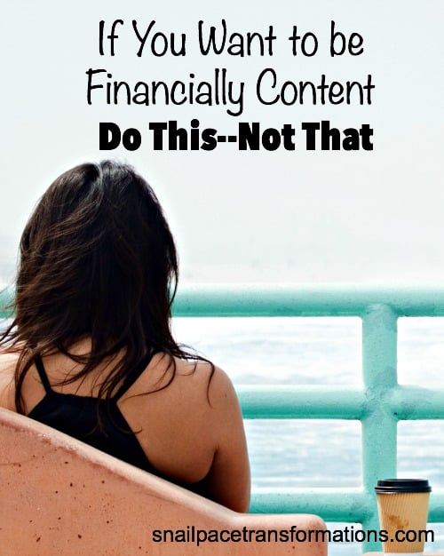The secret to financial contentment lies in changing a few key behaviors.