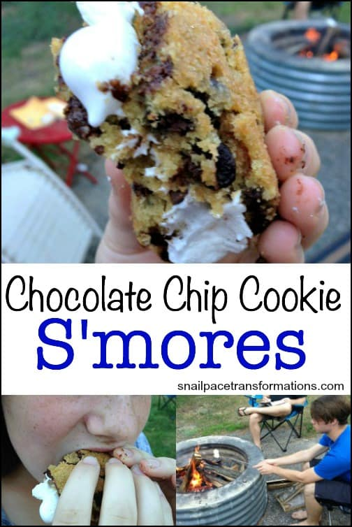 Chocolate chip cookie s'mores | Snail Pace Transformations recipe