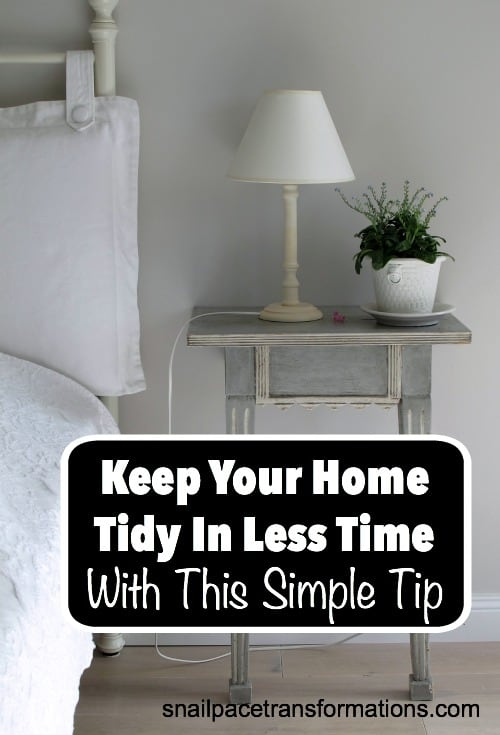 Keep your home tidy in less time with this simple tip. Psst... NO complicated cleaning routine required!