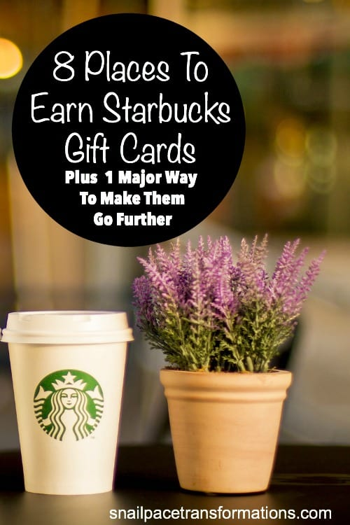 Fund your Starbucks habit without wrecking your budget by using these 8 places to earn Starbucks gift cards. Your budget will love you for this!