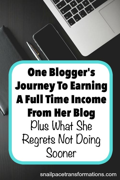 A story of how one blogger grew her blog to full time income. Plus--what she believes would have shortened her journey to a full time work at home income!
