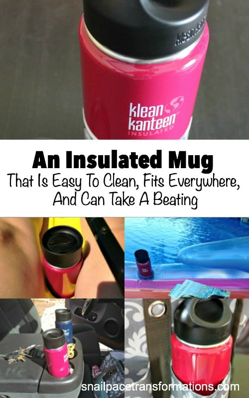 This insulated mug fits anywhere, is super easy to clean and very durable. This insulated tumbler can be used for both hot and cold drinks--making it a great water bottle.