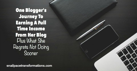 One Blogger's Journey to Earning a Full Time Income From her Blog--Plus What she Regrets not Doing Sooner.