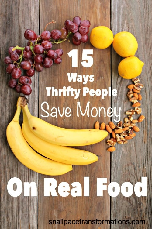 Great tips for saving money on real foods at the grocery store. Healthy food and a healthy wallet.
