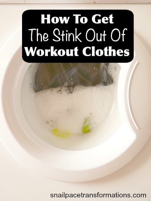 How to get the stink out of your workout clothes. This is so simple!
