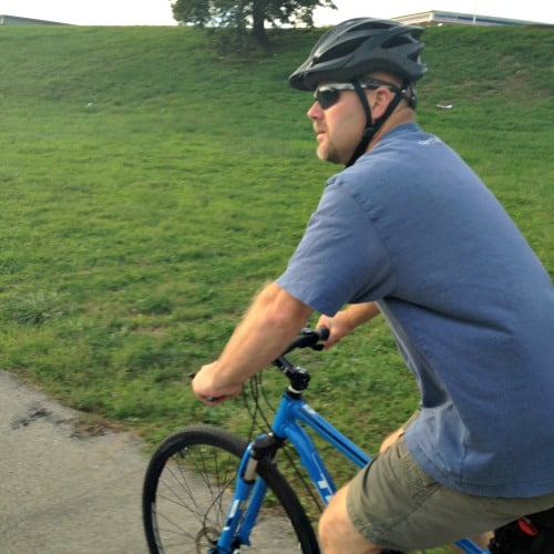 my bike riding hubby