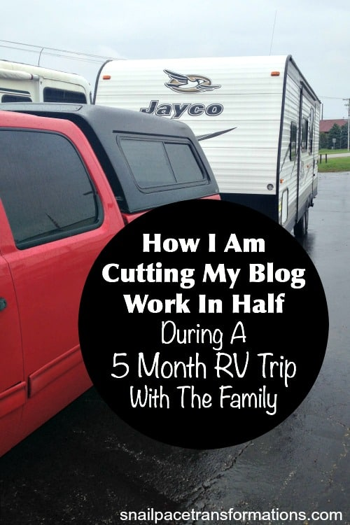 How one blogger plans to cut her blog work in half.