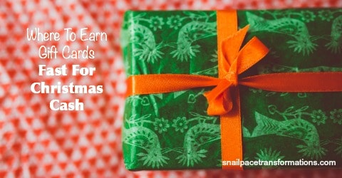 Where to Earn Gift Cards for Fast Christmas Cash.
