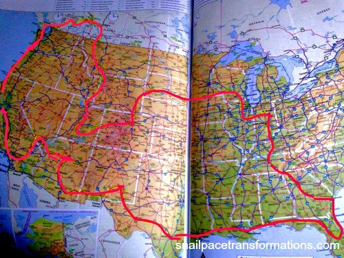 The route one family of five took on their 22 week RV road trip.