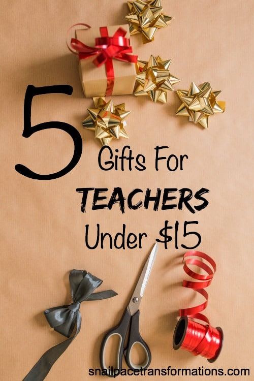 5 gift ideas for Teachers Under $15.
