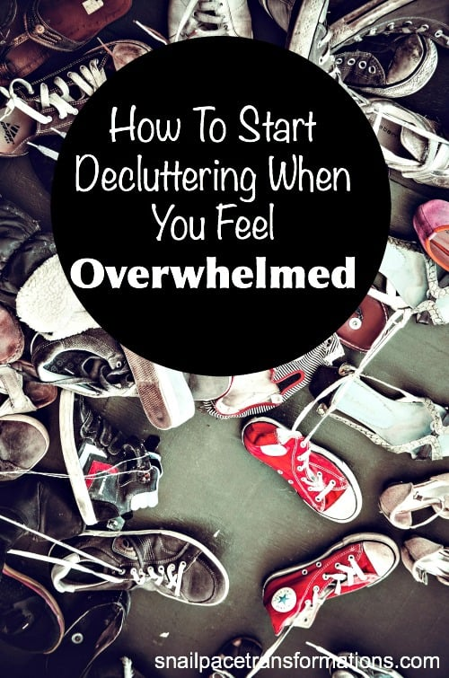 How to start decluttering when you feel overwhelmed. You can attack clutter and win!