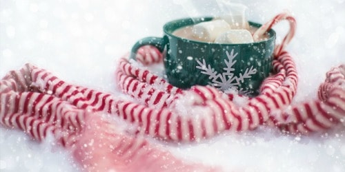 host a hot cocoa bar potluck style--one of 25 snow day activities