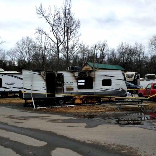 RV Trip Update: Week 1: Nashville a travel trailer fire