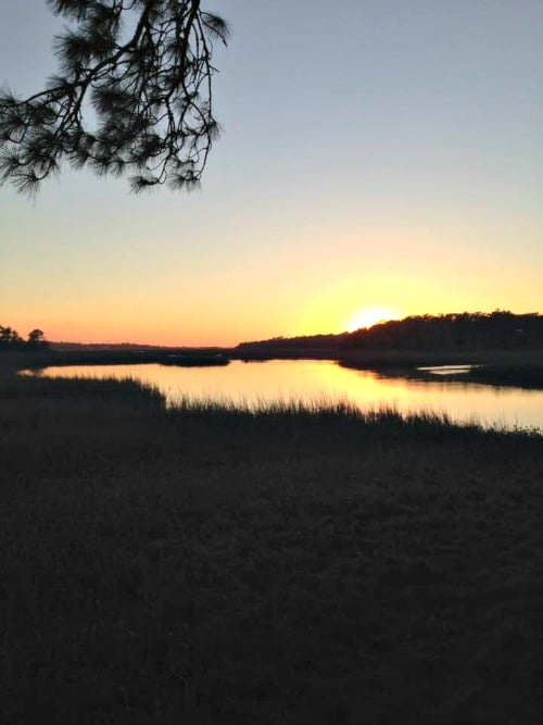 RV Trip Week 3: Little Talbot Island, Sunset behind campground
