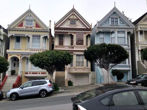 "RV trip: Day trip to San Fransisco, ""Full House"" house."