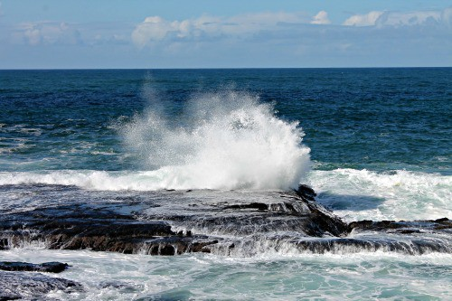 RV Trip Week 11: The waves near Fort Bragg, California.