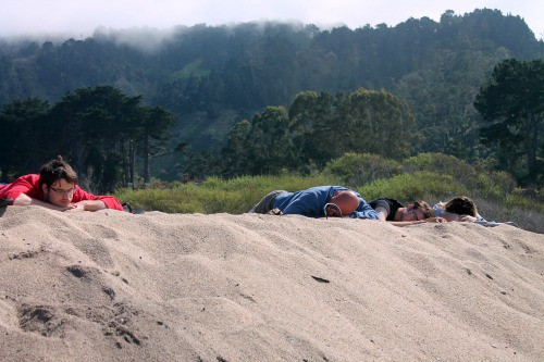 Road trip: Taking a nap beach side in California.