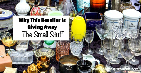 Why I Am Giving Away The Small Stuff | Snail Pace Transformations