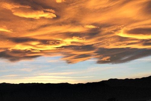 RV Trip  Death Valley Sunset