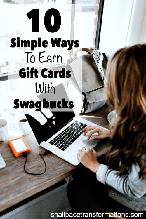 10 simple ways to earn gift cards with Swagbucks. Earn gift cards each month doing things you already do online.