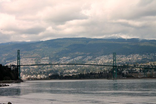 RV Trip: Lion's Gate Bridge, Vancouver.