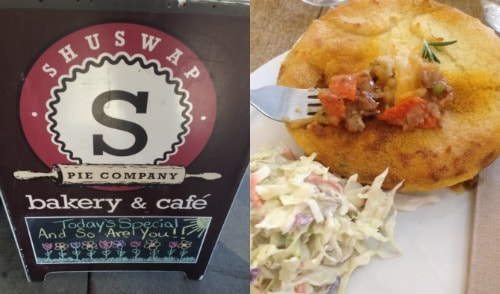 Shuswap Pie Company. A restaurant we enjoyed during week 16 of our 22 week RV road trip.