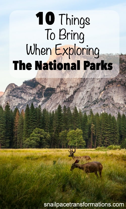 Planning to take a road trip to one of the USA National Parks? Here is a list of what to pack for a day of exploring.