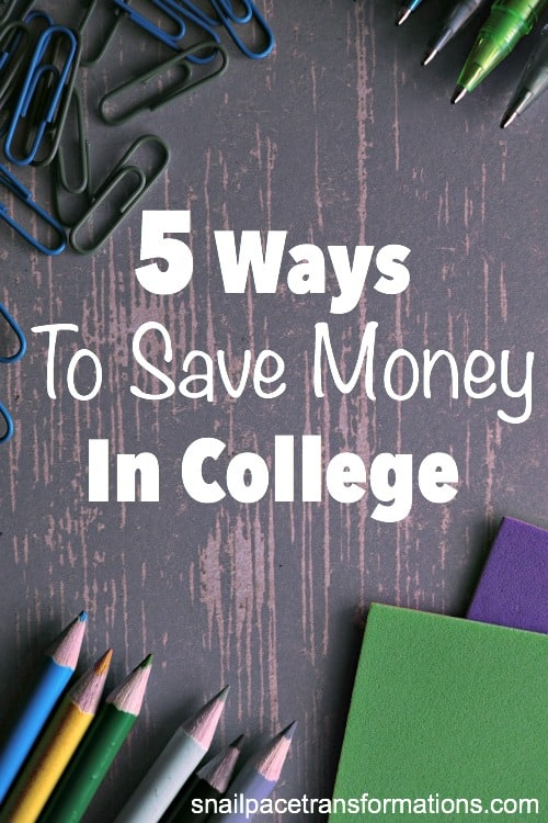 5 simple ways to save money in college that can really add up to BIG savings.